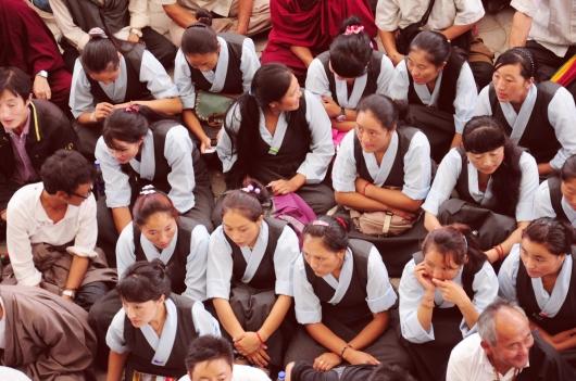 西藏流亡政府總理一周年紀念日,學生們