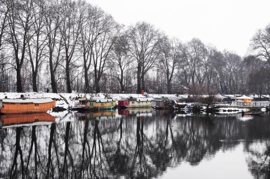下雪的達爾湖