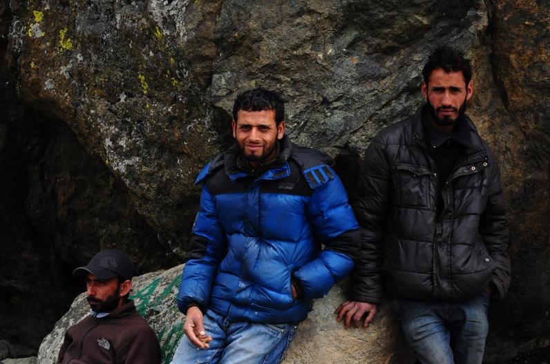 登山嚮導Feroz、馬伕們Ashraf和Sadit