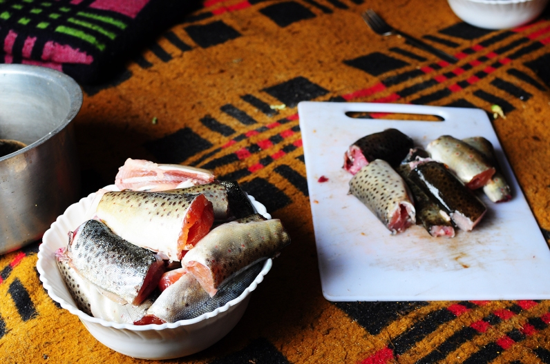 鮮美的鱒魚