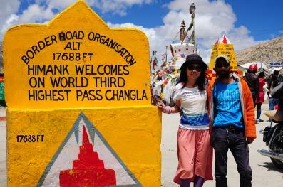 世界第三高公路,海拔5,360公尺高的Chang La。2016年7月下旬