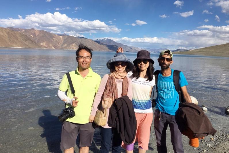 保齡、芳綾、我、阿飛。2016年7月下旬