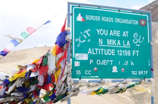 海拔3,781公尺高的Namika La