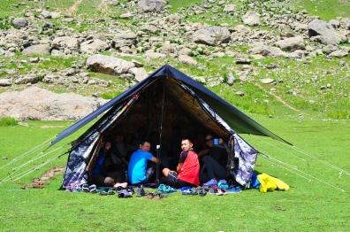 餐帳,也是馬伕睡覺的帳篷。2017年8月上旬