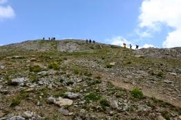 第二座山頭約40分鐘的陡上(八月上旬)