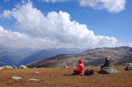 海拔3,850公尺,稍作休息。2017年9月下旬
