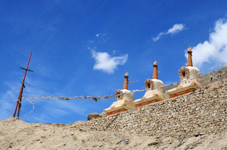 拉達克最古老最大的寶塔之一。2014年8月中下旬